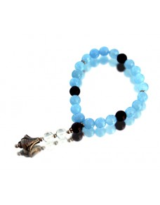 Blue Jade Onyx Floride Fasitade Bracelet