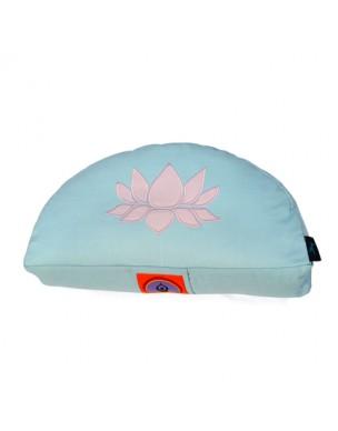 Top Yogi Halfmoon Meditation Cushion Lotus, Aqua