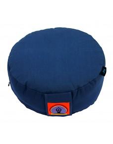 Top Yogi Round Meditation Cushion, Blue