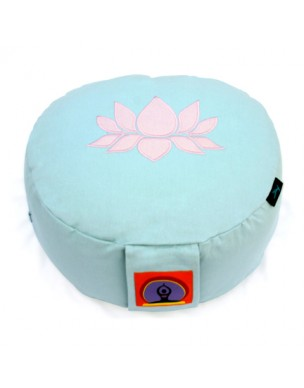 Top Yogi Round Meditation Cushion Lotus, Aqua