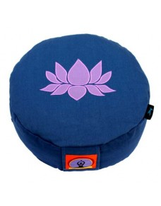 Top Yogi Round Meditation Cushion Lotus, Blue