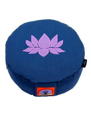 Top Yogi Round Meditation Cushion Lotus, Blue