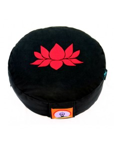 Top Yogi Round Meditation Cushion Lotus, Black