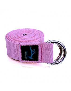 Top Yogi Yoga Belt/Strap Rose 240cm x 4cm