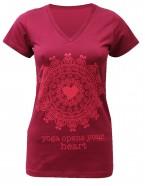 Yoga T Shirt Mandala Bordeaux for women