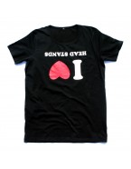 "Yoga T-Shirt ""I Love Headstands"" Black, for Men"