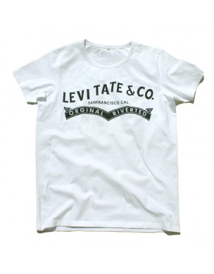 "Yoga T-Shirt ""Levitate"" White, for Men"