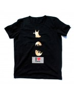 "Yoga T-Shirt ""Chipmunk Yogi"" Black, for Men"