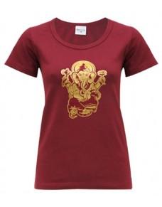 Yoga T Shirt Ganesha Tapas Red
