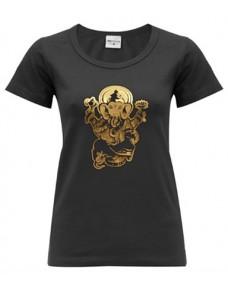 Yoga T Shirt Ganesha Black