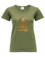 Yoga T Shirt Shiva Olive