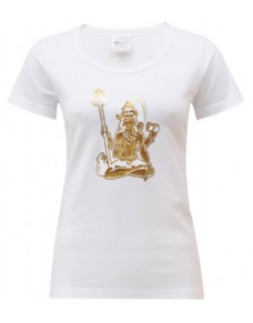 Yoga T Shirt Shiva White