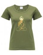 Yoga T Shirt Buddha Olive