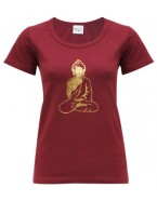 Yoga T Shirt Buddha Tapas Red