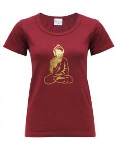 Yoga T Shirt Buddha Tapas Red