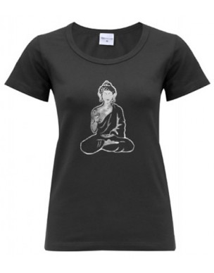 Yoga T Shirt Buddha Black