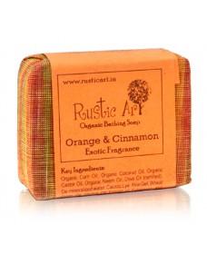 Rustic Art Organic Orange & Cinnamon Soap 100g