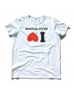 """Yoga T- Shirt """"I Love Headstands"""" White, for Men"""