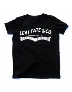 """Yoga T-Shirt """"Levitate"""" Black, for Men"""