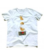 "Yoga T-Shirt ""Chipmunk Yogi"" White, for Men"